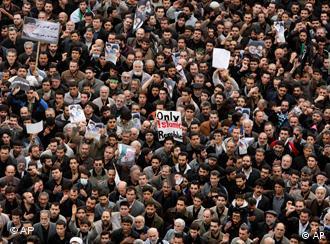 Mass demonstration in Tehran in 2009