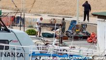 Italien Migrantenboot nahe Lampedusa gekentert
