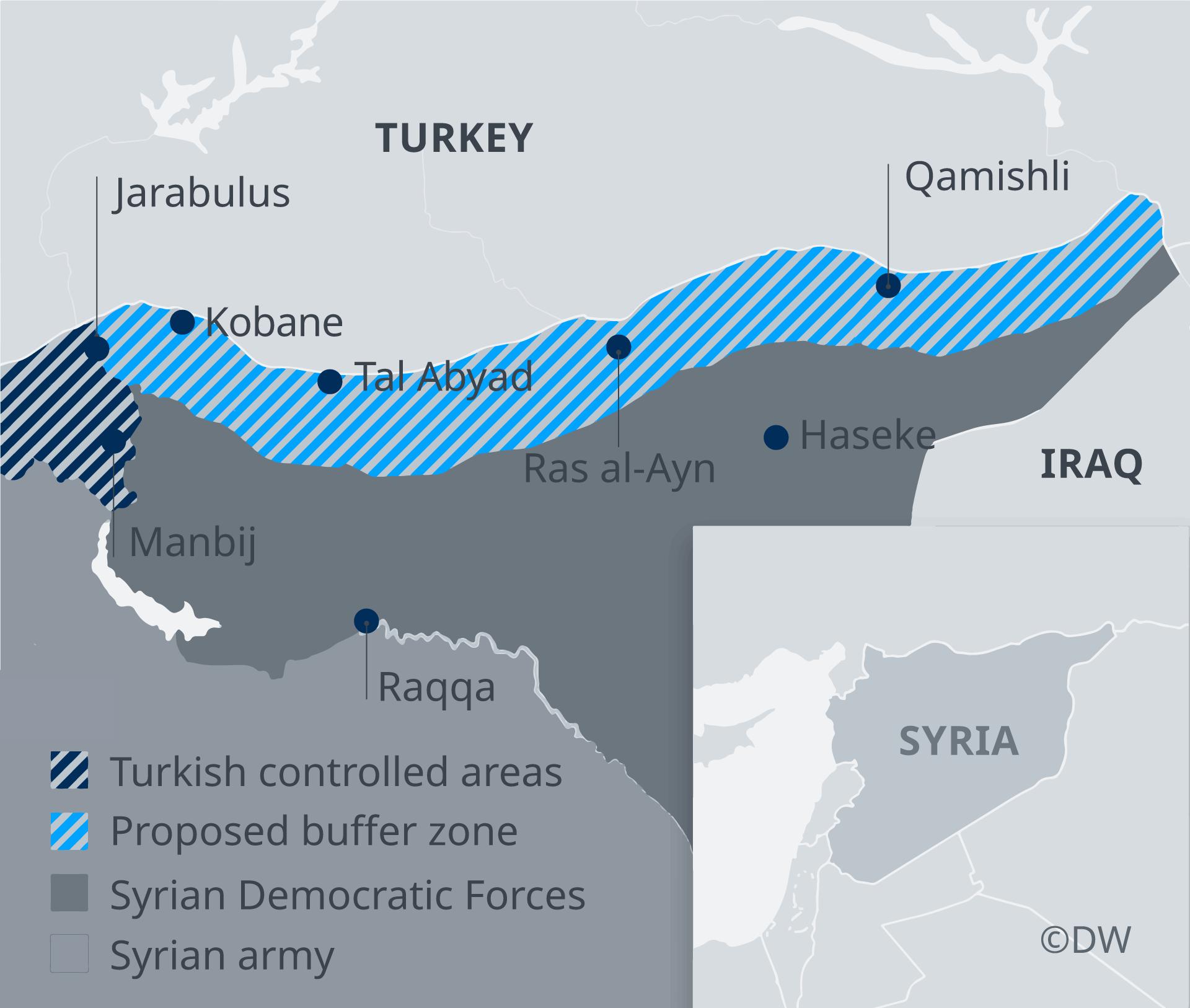 Kurdistan Karte 2019.Turkey Russia Broker Deal On Further Withdrawal Of Kurdish