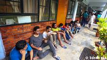 ***ACHTUNG: Bild nur zu der mit bdnews24.com abgesprochenen Berichterstattung verwenden!*** Abrar Fahad, a student of Bangladesh University of Engineering and Technology (BUET) was murdered yesterday. Students are staging a procession to protest the murder. Police have arrested four leaders of Bangladesh Chhatra League to interrogate them over the murder of Abrar Fahad. Picture: Students protest the murder Rechte: bdnews24