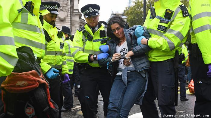 UK Extinction Rebellion Protest in London