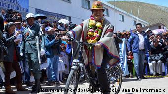 El cumplimiento de los compromisos de las empresas involucradas dependerá, tambien, de las condiciones que les haya impuesto el Estado boliviano, advierte Bardt. (picture-alliance/dpa/Agencia Boliviana De Informacio)
