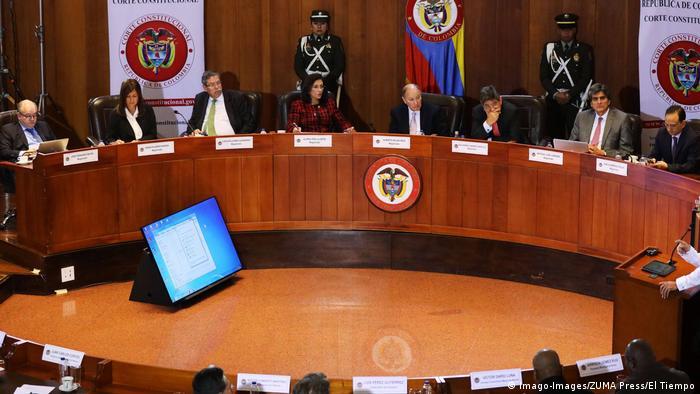 Sala de la Corte Suprema de Justicia de Colombia
