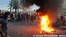 Irak Bagdad Proteste gegen Regierung