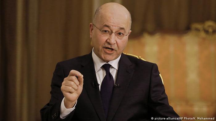 Irak Präsident Barham Salih (picture-alliance/AP Photo/K. Mohammed)