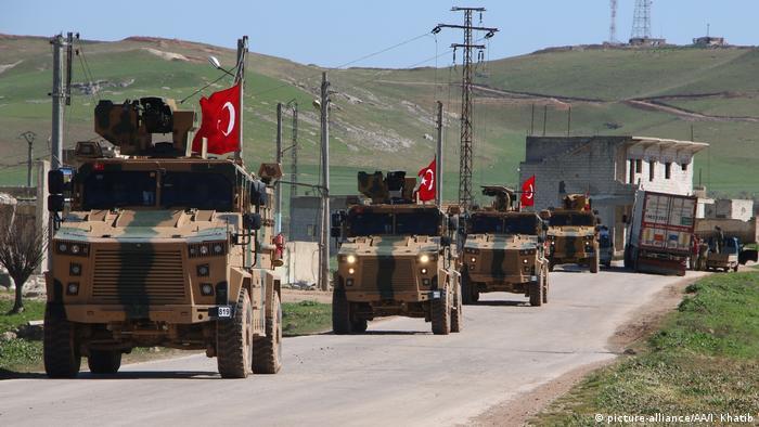 Syrien Idlib Türkische Militärpatrouille