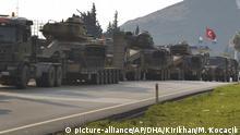 Türkei Militärkonvoi an der Grenze zu Syrien