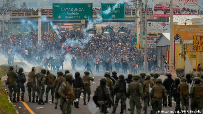 Protestas en Ecuador.