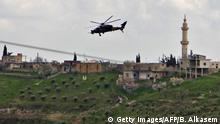 Syrien | Türkischer Kampfhubschrauber T129 bei Afrin
