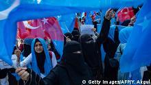 Türkei Istanbul Proteste von Uiguren
