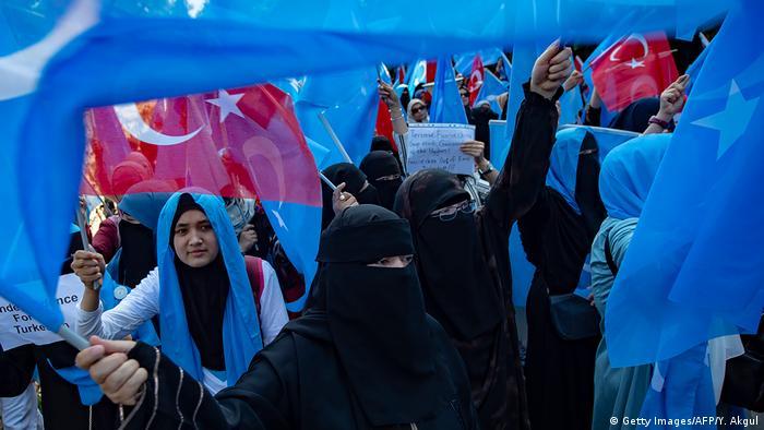 Türkei Istanbul Proteste von Uiguren (Getty Images/AFP/Y. Akgul)