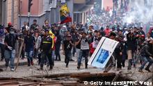 Ecuador Quito Protest gegen Sparmaßnahmen der Regierung