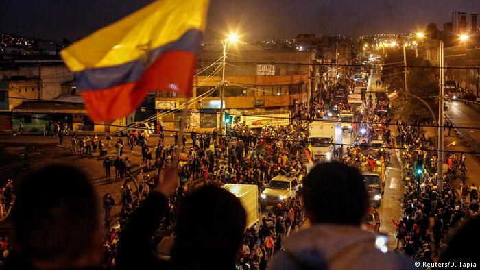 Ecuador Quito Protest gegen Sparmaßnahmen der Regierung (Reuters/D. Tapia)