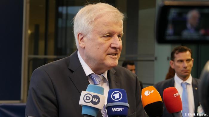 Horst Seehofer, Bundesinnenminister, CSU, Treffen der EU-Innenminister in Luxemburg
