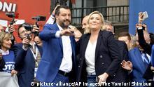 Italien | Matteo Salvini mit Marine Le Pen