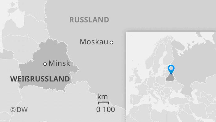Karte Weißrussland Russland DE