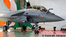 A view shows the first Rafale fighter jet to the Indian Air Force during a ceremony at the factory of French aircraft manufacturer Dassault Aviation in Merignac near Bordeaux, France, October 8, 2019. REUTERS/Regis Duvignau