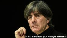 08.10.2019 *** Germany's head coach Joachim Loew attends a press conference in Dortmund, Germany, Tuesday, Oct. 8, 2019 prior a friendly soccer match between Germany and Argentina. (AP Photo/Martin Meissner) |