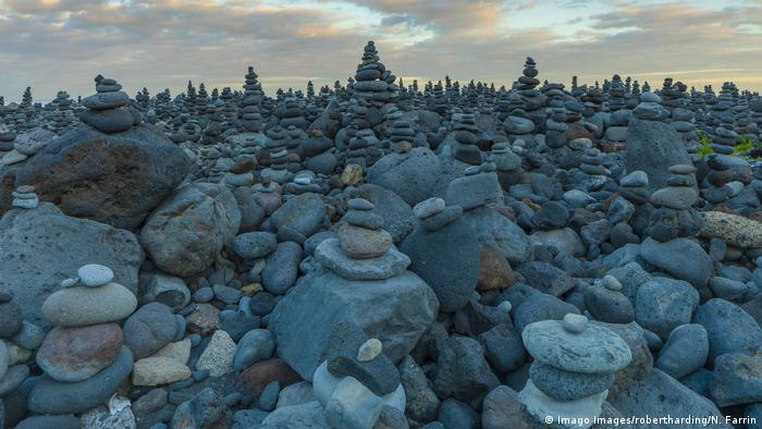 Tiny stone towers as far as the eye can see