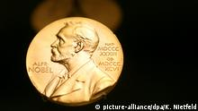 Symbolbild Nobelpreis | Medaille mit dem Konterfei von Alfred Nobel
