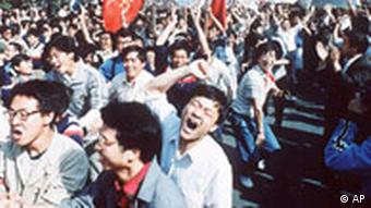 The students in Tiananmen Square were unarmed and protesting peacefully