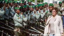 Mali Besuch der Bundesverteidigungsministerin Annegret Kramp-Karrenbauer