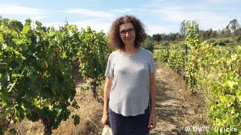 Winegrower Sara Dionisio in her vineyard
