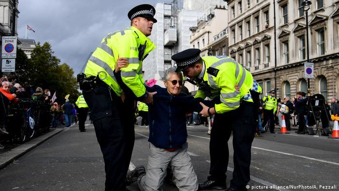 Großbritannien Extinction Rebellion Protest in London