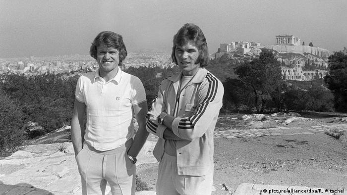 Fußball: Die Nationalmannschaft in Athen 1974 Sepp Maier und Norbert Nigbur (picture-alliance/dpa/R. Witschel)
