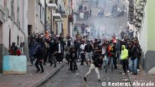 Demonstrators take part in a protest against Ecuador's President Lenin Moreno's austerity measures in Quito, Ecuador, October 8, 2019. REUTERS/Ivan Alvarado