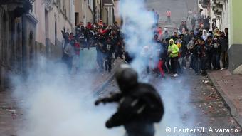 Enfrentamientos en las calles de Quito.