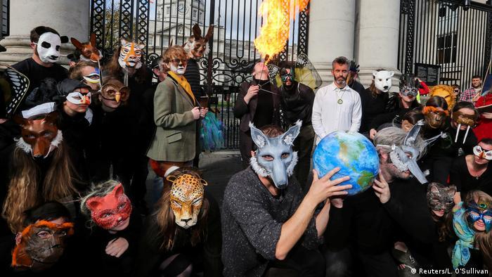 Irland Dublin Proteste Extinction Rebellion