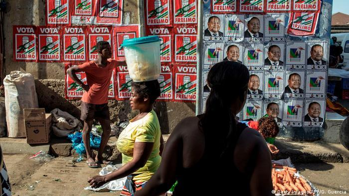 Mosambik Wahlplakate
