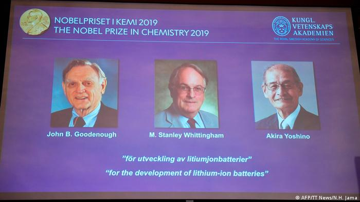 John B. Goodenough, M. Stanley Whittingham e Akira Yoshino, vencedores do Nobel de Química de 2019
