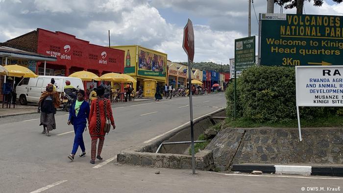 Das Stadtzentrum von Kinigi