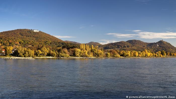 Rhine an d green mountains beyond