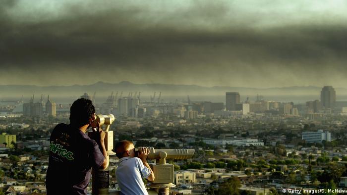 تصویری از آلودگی هوا در شهر لوسآنجلس سال ۲۰۱۹