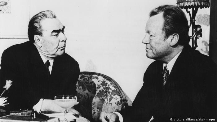 Леонид Брежнев и Вилли Брандт в отеле Петерсберг