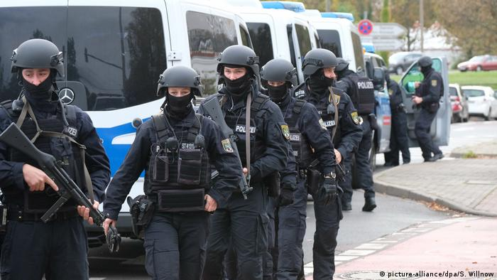 Police in Halle