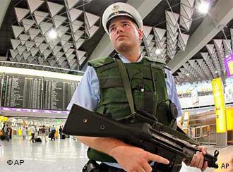 Policeman at Frankfurt airport