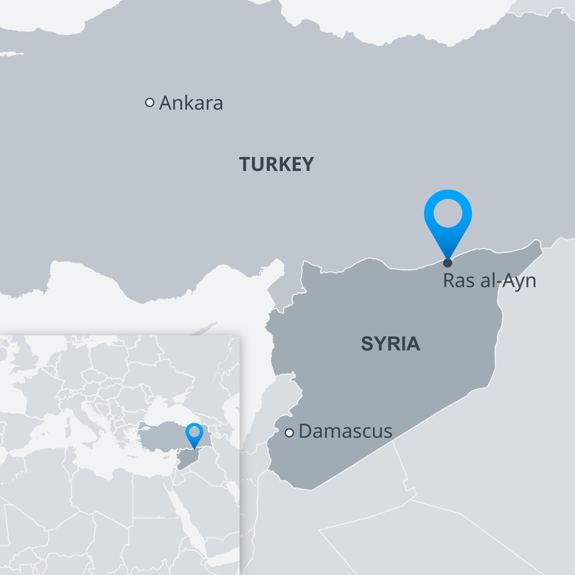 Karte Syrien Ras al-Ayn EN