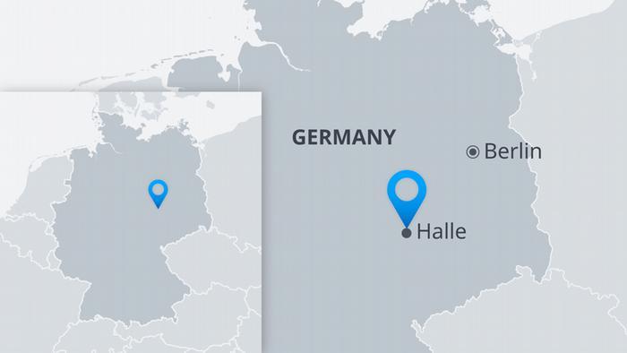 Deutschland Halle Karte