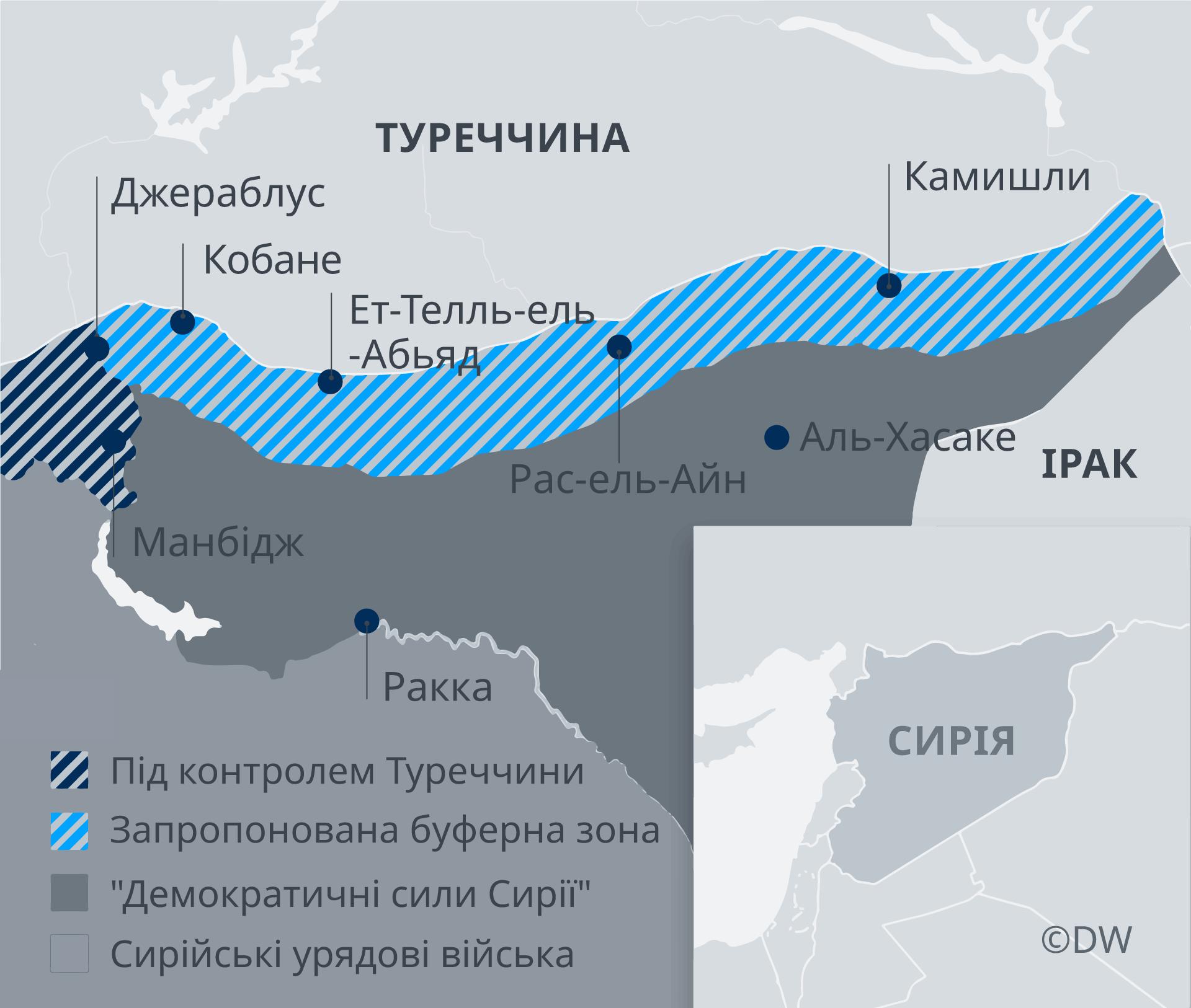 Infografik Karte Sicherheitszonen Syrien UK