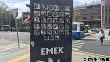 Zum Jahrestag des Terroranschlags in Ankara, Tafeln derOpfer des Anschlags