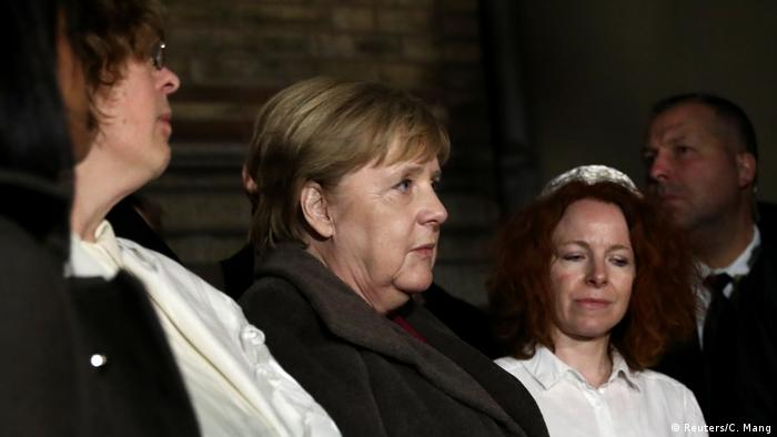 Deutschland Solidaritätskundgebung an Neuer Synagoge Berlin