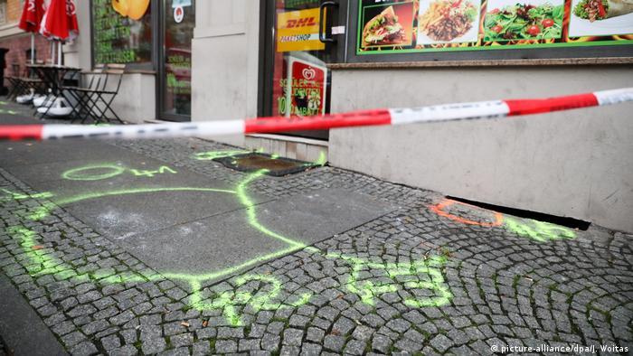 Halle: miejsce zbrodni przed budką z kebabem