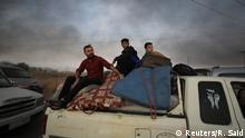 Syrien Konflikt Grenze Türkei | Flüchtlinge bei Ras al-Ain