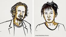Bildkombo | Schweden Stockholm Nobelpreis Literatur 2018 Autorin Olga Tokarczuk und Peter Handke