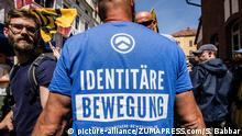 Deutschland Demo der Identitären Bewegung in Halle an der Saale