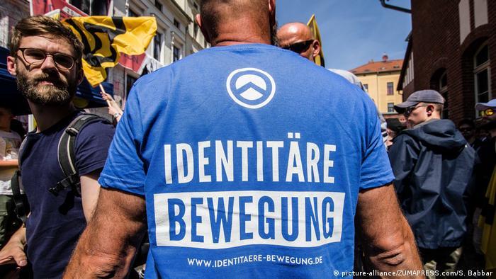 An Identitarian demonstration in Halle